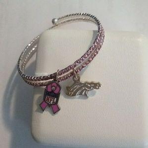 Jewelry - NFL Pink Ribbon/Broncos expandable bracelet